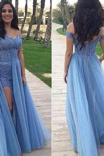 Blue Prom Dresses,Lace Prom Dress,Sexy Prom Dress,Blue Prom Dresses,Formal Gown,Lace Evening Gowns,Lace Party Dress,Prom Gown For Teens