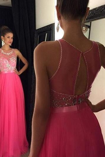 Pink Backless Prom Dresses,Open Back Prom Gowns, Pink Prom Dresses, Party Dresses ,Long Prom Gown,Open Backs Prom Dress,Sparkle Evening Gown,Sparkly Party Gowbs
