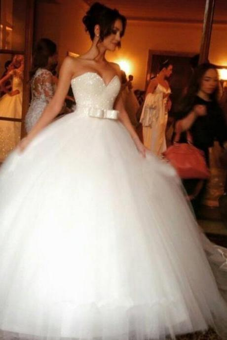 White Wedding Dresses,Tulle Wedding Gown,Tulle Wedding Gowns,Mermaid Bridal Dress,Princess Wedding Dress,Beautiful Brides Dress,Wedding Gowns For Spring Summer