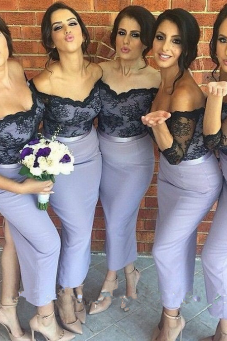 Lace Bridesmaid Dress,Long Bridesmaid Gown,Off the Shoulder Bridesmaid Gowns,Mermaid Bridesmaid Dresses,Bridesmaid Gowns,2016 Bridesmaid Dress,Spring Bridesmaid Gowns