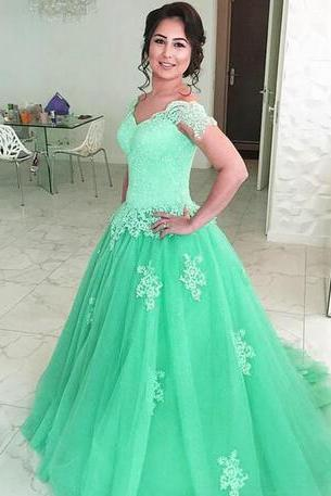 Vintage A Line Prom Dress,Tulle Princess Prom Dresses,Lace Off Shoulder Prom Dress,Customized Made Evening Dress, vestidos largos de fiesta