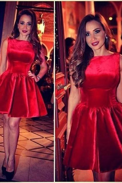 Red Homecoming Dress,Red Homecoming Dresses,Satin Homecoming Dress,Party Dress,Prom Gown, Sweet 16 Dress,Cocktail Gowns,Short Evening Gowns