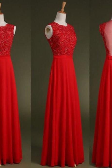 Red Prom Dresses,Lace Evening Dress,A line Prom Dress,Backless Prom Dresses,Lace Prom Gown,Sexy Prom Dress,Open Back Evening Gowns,Party Dress for Teens