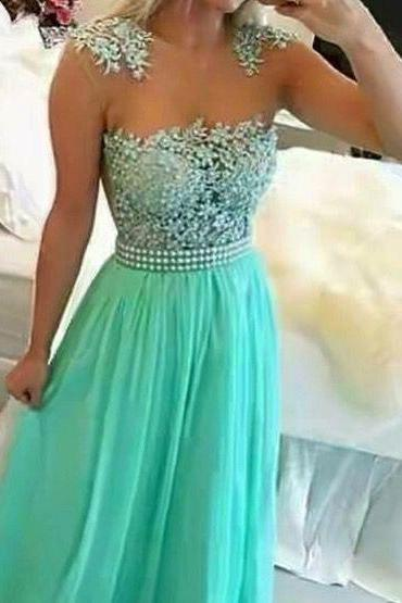Blue Prom Dresses,Evening Dresses,New Fashion Prom Gowns,Elegant Prom Dress,Lace Prom Dresses,Chiffon Evening Gowns,Backless Formal Dress