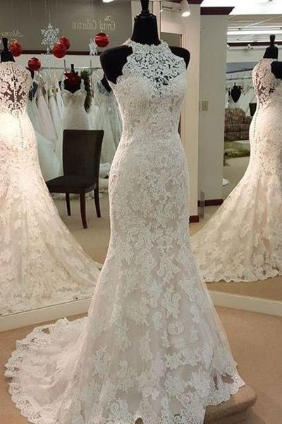Lace Wedding Dress,Mermaid Wedding Dresses,Wedding Gown
