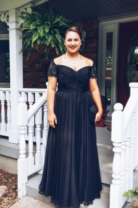 Black Prom Dresses,Lace Prom Dress,Sexy Prom Dress,Cap Sleeves Prom Dresses,Charming Formal Gown,Plus Size Evening Gowns,Black Party Dress,Prom Gown For Teens