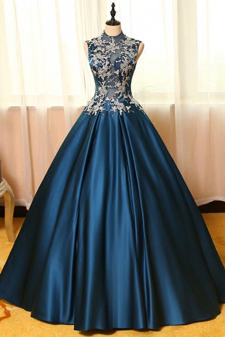 Ball Gown Prom Gowns,Lace Prom Dresses,Satin Prom Dresses,Satin Prom Gown,Prom Dress,Evening Gown For Teens