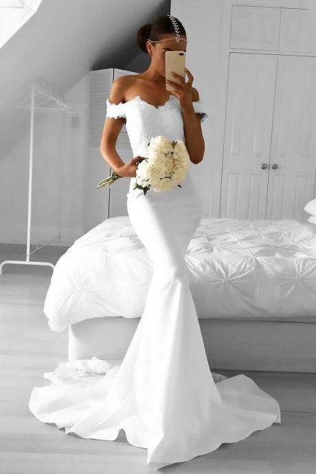 White Prom Dresses,Mermaid Prom Dress,White Prom Gown,Chiffon Prom Gowns,Elegant Evening Dress,Modest Evening Gowns,Sexy Party Gowns