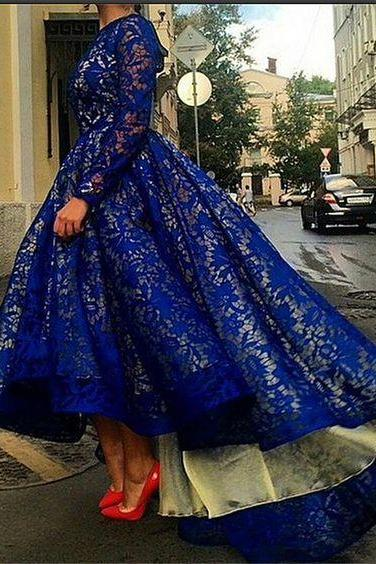 Royal Blue Prom Dress,Homecoming Dresses,Party Dress,High Low Prom Gown,Cocktails Dress,Homecoming Dresses