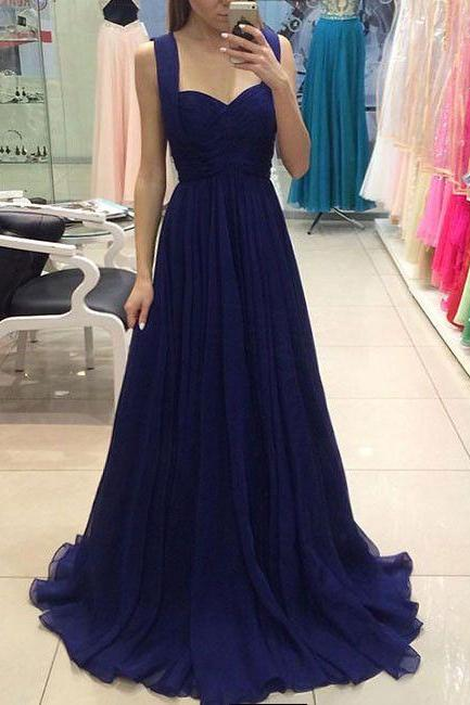 Royal Blue Prom Dresses,Royal Blue Evening Gowns,Party Dresses,Chiffon Evening Gowns,Formal Dress For Teen