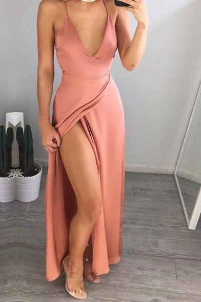 Pink Prom Dresses,Blush pink Prom Dress,Prom Gown,Pink Prom Gown,Elegant Evening Dress,Evening Gowns,Party Gowns