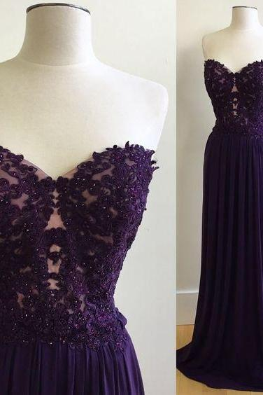 Grape Prom Dresses,Chiffon Prom Gowns,Sparkle Prom Dress,Long Party Dresses,Grape Prom Gown,Simple Prom Dress,Elegant Evening Gowns,Modest Prom Gowns, Evening Gowns