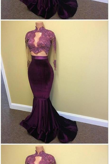Prom Dresses,Prom Dress,Burgundy Long Floor Length Prom Dress, Mermaid Evening Gowns