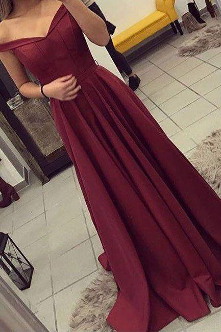 Burgundy Prom Dress,Sexy Prom Dresses,Burgundy Prom Dresses,Long Evening Party Dress