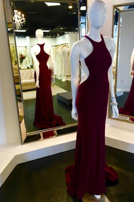 Wine Red Prom Dresses,Charming Evening Dress,Prom Gowns,Mermaid Prom Dresses,New Prom Gown,Burgundy Evening Gown