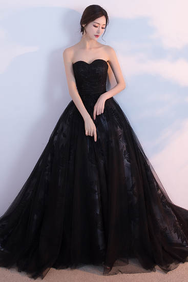Black Sweetheart Prom Dress,Long Prom Dresses,Prom Dresses,Evening Dress, Prom Gowns, Formal Women Dress,