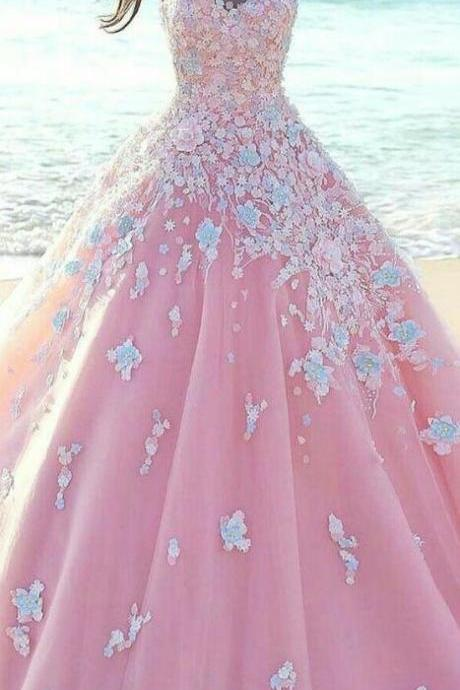 Beauty Ball Gown Wedding Dress,Charming Wedding Dresses,Modest Bridal Dress,pink Wedding dresses,pink ball gowns,pink quinceanera dresses,ball gowns quinceanera dresses