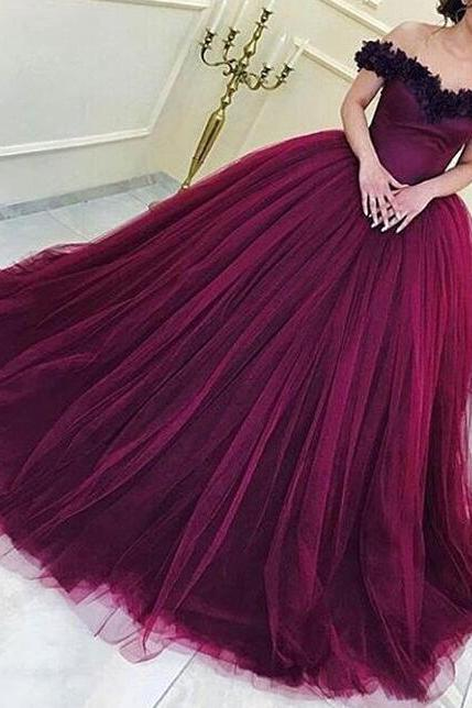 Sexy Lace Prom Dress,Cheap Long Prom Dress,Tulle Prom Dresses, Formal Evening Dress,Ball Gown Prom Dresses,Off the Sholder Prom Dresses,quinceanera dresses