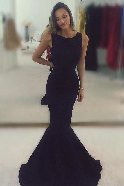 Black Mermaid Prom Gown,Prom Dresses,Evening Gowns,Formal Dresses