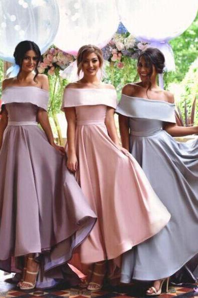 Off Shoulder Bridesmaid Dress,Simple Bridesmaid Dress,New Arrival bridesmaid dress,Custom bridesmaid dress, Wedding Party Dresses,Long Bridesmaid Dress,Bridesmaid Dresses,Bridal Gowns