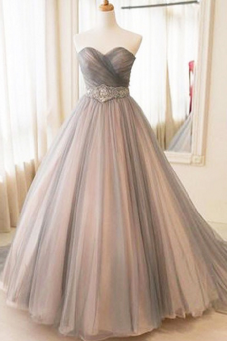 Sexy Prom Dress,Ball Gown Prom Dresses,Sleeveless Tulle Evening Dress,Long Evening Dresses,Formal Dresses