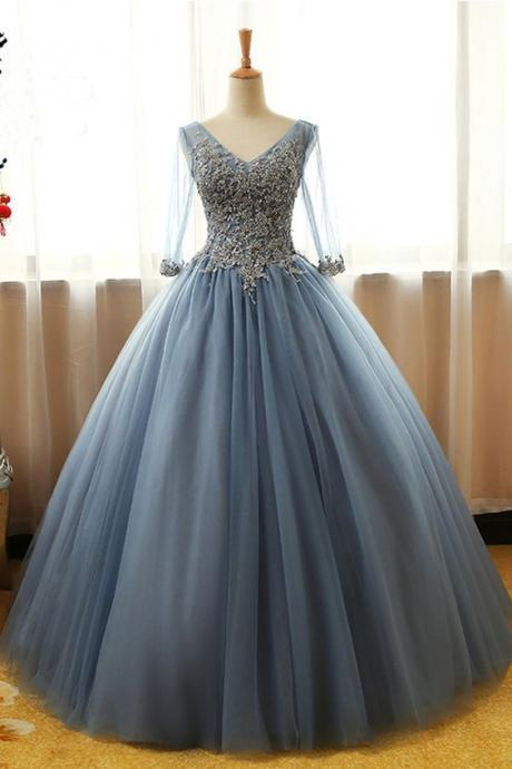 Elegant Wedding Dress,Long Bridal Dresses,Tulle Ball Gown ,Prom Cheap Formal Dresses,Prom Dresses