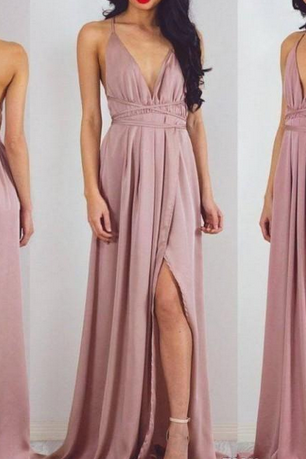 Summer Women Prom Dress,Holiday Dresses Prom Dresses, Open Criss Cross Prom Dresses,Straps Side Split Long Evening Dresses, Cheap Beach Plus Size Party Dress