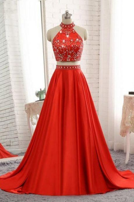 A Satin cloth Long Prom Dresses,Black Long Prom Dress,Red Evening Dress