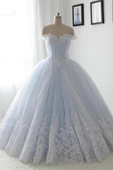 Light Blue Wedding Dress,Sweetheart Lace Wedding Dresses,A-line Quinceanera Dress,Long Quinceanera Dresses,,Princess Quinceanera Dresses,Ball Gown Prom Dresses,Prom Dress,Quinceanera Dress