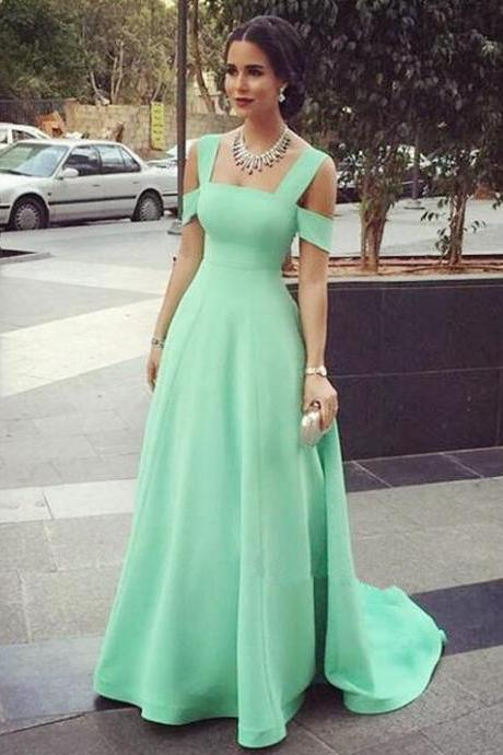Mint Green Prom Dress,Sexy Evening Dresses,Prom Gowns,Elegant Prom Dress,Satin Prom Dresses,Simple Evening Gowns,Modest Formal Dress