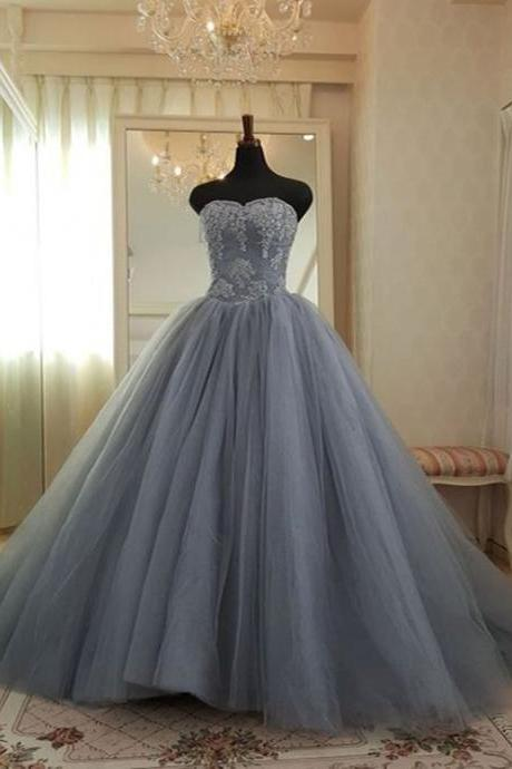 Sleeveless Ball Gown Pageant Dress,Evening Party Gowns ,Formal Gowns