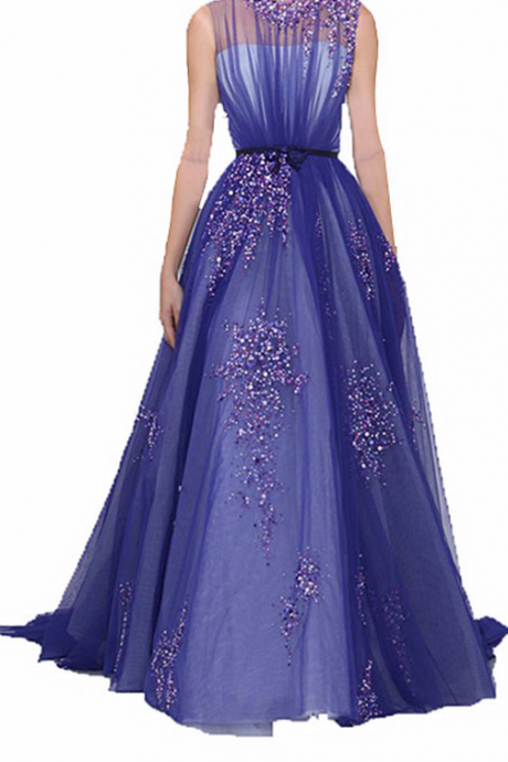 Luxury Prom Dresses,Sparkle Evening Dresses,Purple Evening Dresses,Beaded Evening Dresses,Sequin Evening Dresses