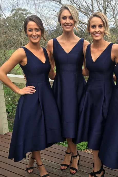 Navy Blue Bridesmaid Dresses,Short Bridesmaid Dresses,Bridesmaid Dress