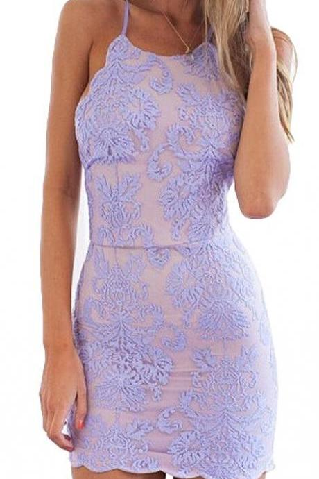 Lace Homecoming Dresses ,Short Prom Gown ,Lavender Homecoming Dress ,Sexy Homecoming Gowns , Cheap Homecoming Dresses ,Backless Party Dress For Teens