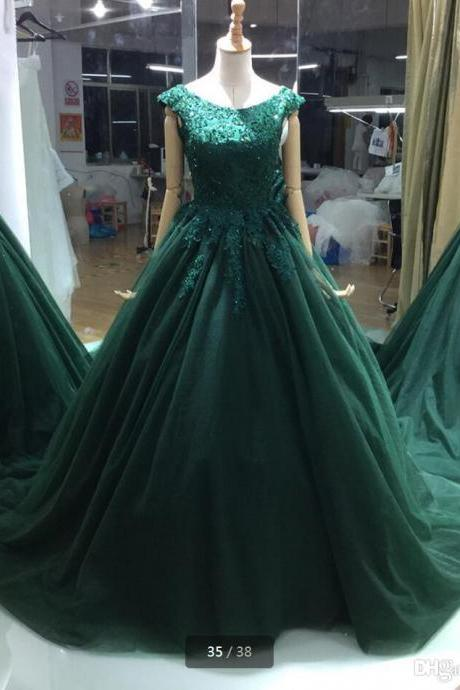 Sexy Prom Gowns,Prom Dresses,Long Hunter Green Evening Dress,Modest Formal Dress