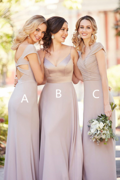 Chiffon Floor Length Bridesmaids Dress,Bridesmaids Dresses