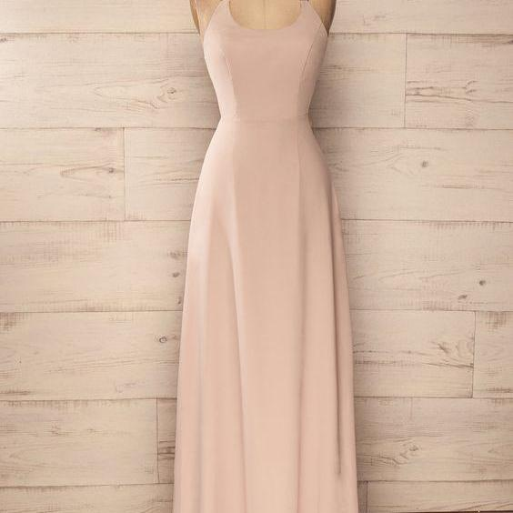 Charming Prom Dress,Chiffon Prom Dress,Halter Prom Dress