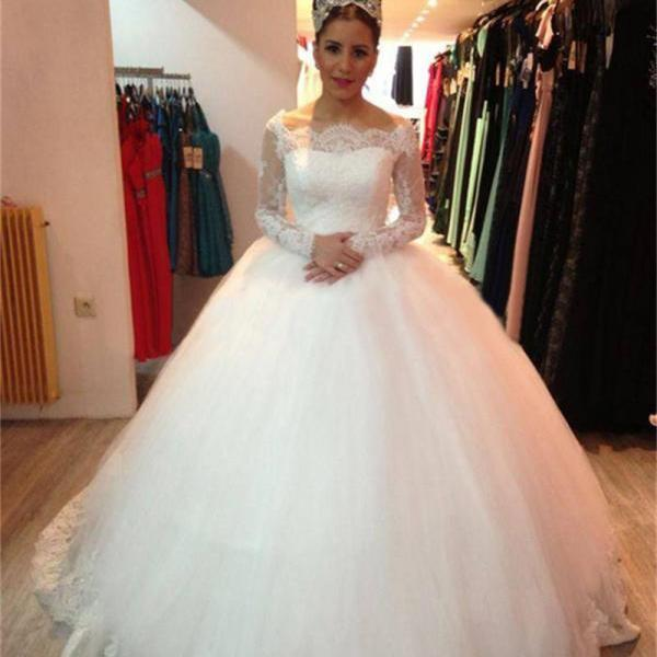 Ball Gown Wedding Gowns,Tulle Wedding Dresses,Bridal Gowns,Wedding Dresses,Sexy Wedding Dresses