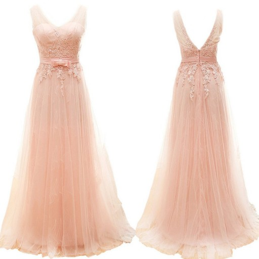 Blush Pink Prom Dresses,A-Line Prom Dress,Lace Prom Dress,Simple Prom Dress,Tulle Prom Dress,Simple Evening Gowns,Cheap Party Dress,Elegant Prom Dresses,Formal Gowns For Teens