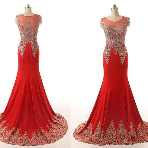 Red Prom Dresses,Glitter Prom Gown,Black Prom Dress,Mermaid Formal Gowns for Teens