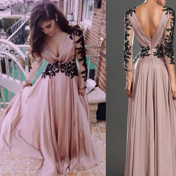 A-line Evening Gown,Chiffon Evening Gown,Hot Style Evening Dress,Party Dress,Full Sleeved Evening Dresses,Long Evening Gown,Fashion Evening Gown,Party Dress,Modest Party Dress,Dress for Evening