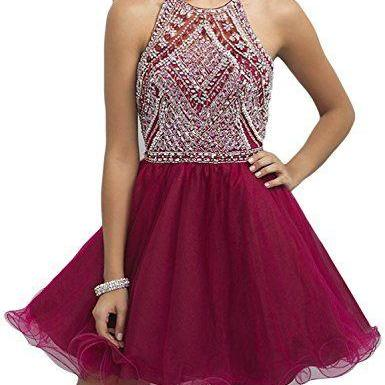 Burgundy Homecoming Dress,Tulle Homecoming Dresses,Cute Party Dress,Short Prom Dress,Elegant Sweet 16 Dress,Sparkly Homecoming Dresses,Elegant Formal Gown