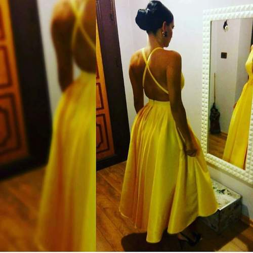 Sexy homecoming dress,cute prom dress short ,new fashions yellow cocktail dresses