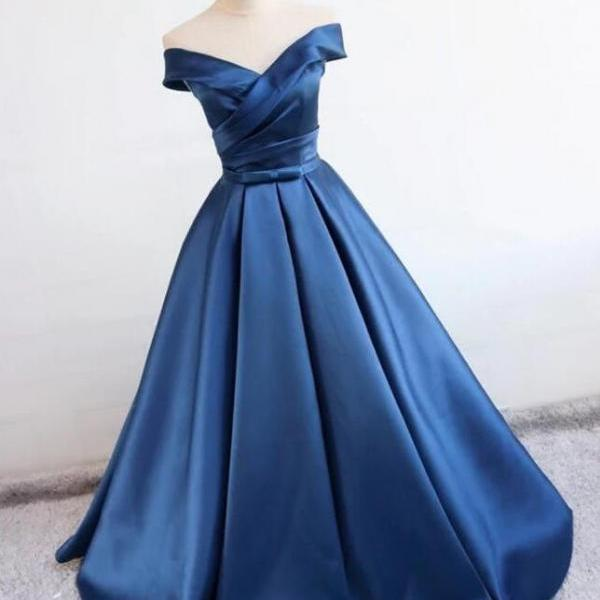 Navy blue A Line Prom Dresses, Cheap Stain prom Dress,Charming Prom Dress, Sexy Prom Dress,Navy blue Evening Dress